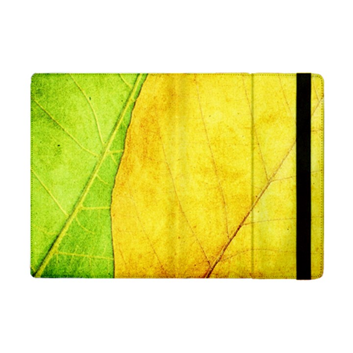 Green Yellow Leaf Texture Leaves iPad Mini 2 Flip Cases