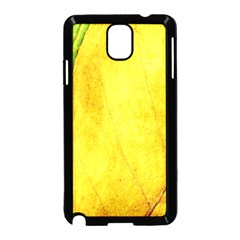 Green Yellow Leaf Texture Leaves Samsung Galaxy Note 3 Neo Hardshell Case (black)