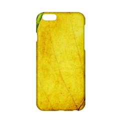 Green Yellow Leaf Texture Leaves Apple Iphone 6/6s Hardshell Case by Alisyart