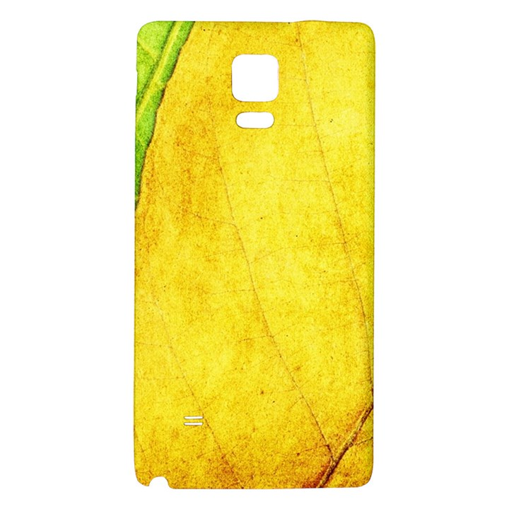 Green Yellow Leaf Texture Leaves Samsung Note 4 Hardshell Back Case
