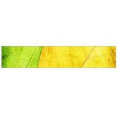 Green Yellow Leaf Texture Leaves Large Flano Scarf