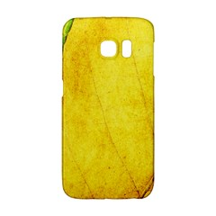 Green Yellow Leaf Texture Leaves Samsung Galaxy S6 Edge Hardshell Case