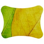 Green Yellow Leaf Texture Leaves Jigsaw Puzzle Photo Stand (Bow) Front