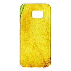 Green Yellow Leaf Texture Leaves Samsung Galaxy S7 Edge Hardshell Case