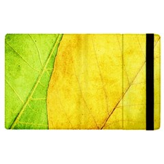 Green Yellow Leaf Texture Leaves Apple Ipad Pro 9 7   Flip Case