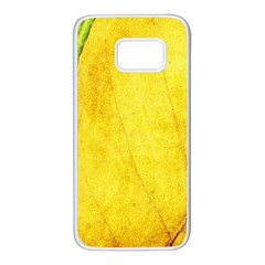 Green Yellow Leaf Texture Leaves Samsung Galaxy S7 White Seamless Case
