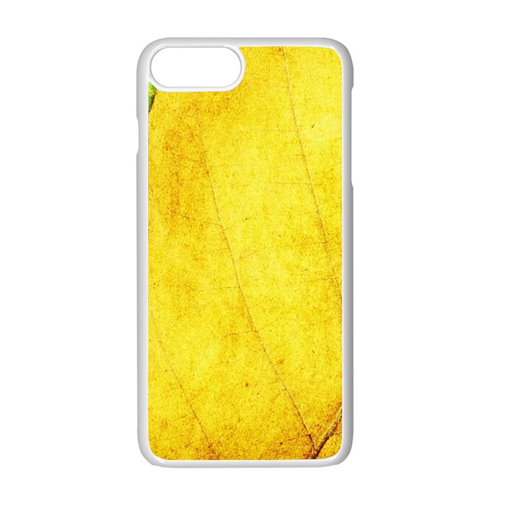 Green Yellow Leaf Texture Leaves Apple iPhone 7 Plus Seamless Case (White)