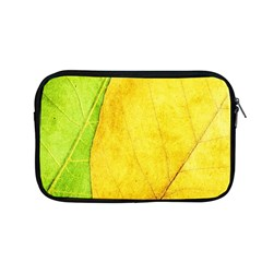 Green Yellow Leaf Texture Leaves Apple Macbook Pro 13  Zipper Case