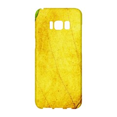 Green Yellow Leaf Texture Leaves Samsung Galaxy S8 Hardshell Case  by Alisyart