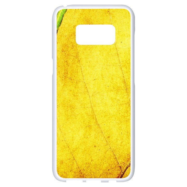 Green Yellow Leaf Texture Leaves Samsung Galaxy S8 White Seamless Case
