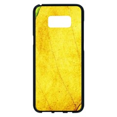 Green Yellow Leaf Texture Leaves Samsung Galaxy S8 Plus Black Seamless Case