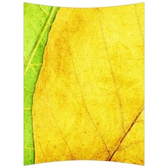 Green Yellow Leaf Texture Leaves Back Support Cushion