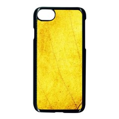Green Yellow Leaf Texture Leaves Apple Iphone 8 Seamless Case (black)