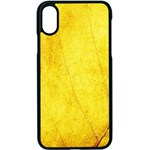 Green Yellow Leaf Texture Leaves Apple iPhone X Seamless Case (Black) Front