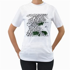 Montains Hills Green Forests Women s T Shirt (white) (two Sided) by Alisyart