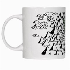 Montains Hills Green Forests White Mugs