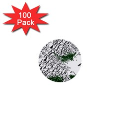 Montains Hills Green Forests 1  Mini Buttons (100 Pack)  by Alisyart