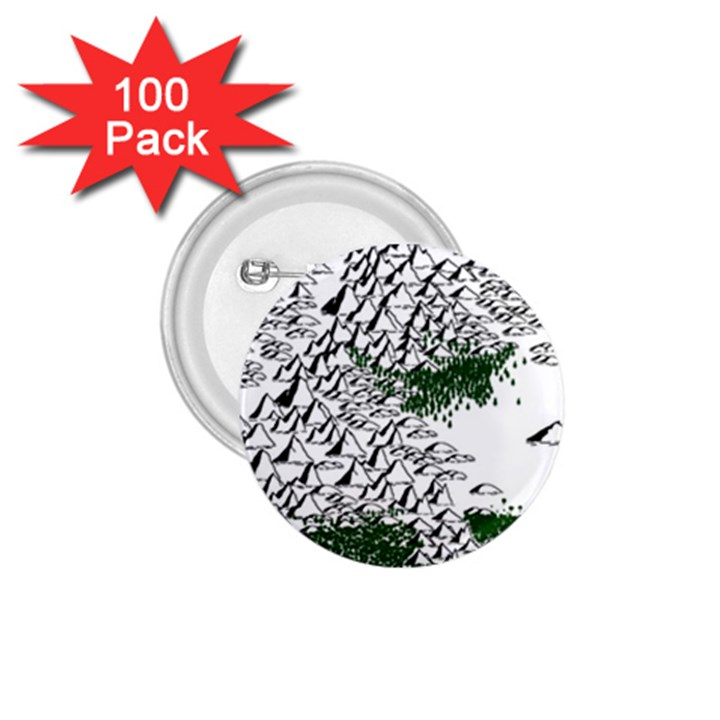 Montains Hills Green Forests 1.75  Buttons (100 pack)
