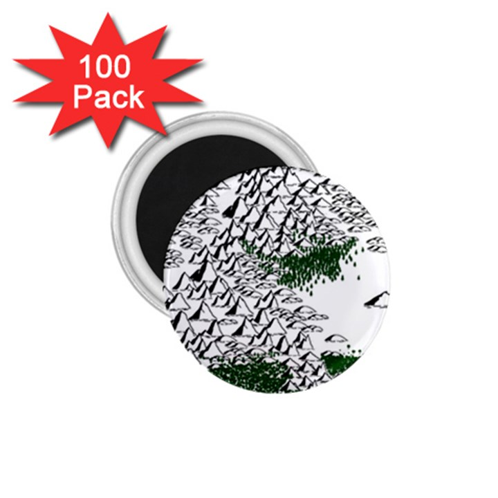 Montains Hills Green Forests 1.75  Magnets (100 pack)