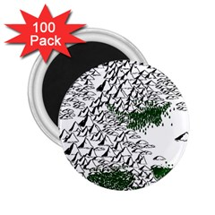 Montains Hills Green Forests 2 25  Magnets (100 Pack)  by Alisyart