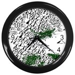 Montains Hills Green Forests Wall Clock (Black) Front