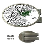 Montains Hills Green Forests Money Clips (Oval)  Front