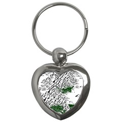 Montains Hills Green Forests Key Chains (heart)  by Alisyart