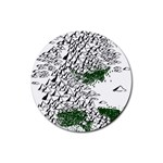 Montains Hills Green Forests Rubber Round Coaster (4 pack)  Front