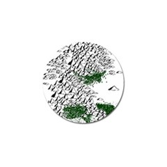 Montains Hills Green Forests Golf Ball Marker (4 Pack)