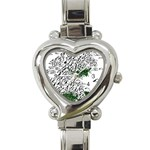 Montains Hills Green Forests Heart Italian Charm Watch Front