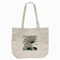 Montains Hills Green Forests Tote Bag (cream)
