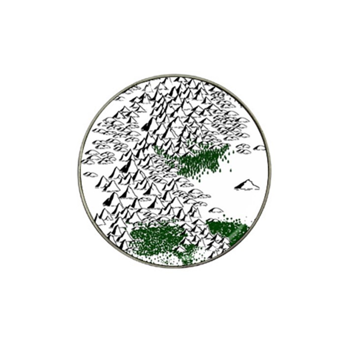 Montains Hills Green Forests Hat Clip Ball Marker