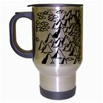 Montains Hills Green Forests Travel Mug (Silver Gray) Left