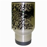 Montains Hills Green Forests Travel Mug (Silver Gray) Center