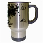 Montains Hills Green Forests Travel Mug (Silver Gray) Right