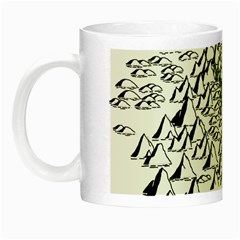 Montains Hills Green Forests Night Luminous Mugs by Alisyart