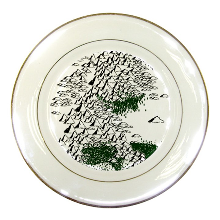 Montains Hills Green Forests Porcelain Plates