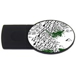 Montains Hills Green Forests USB Flash Drive Oval (4 GB) Front