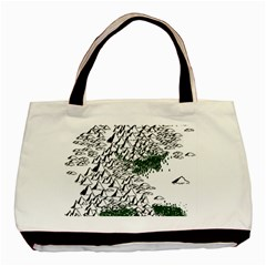 Montains Hills Green Forests Basic Tote Bag by Alisyart