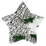 Montains Hills Green Forests Star Ornament (Two Sides) Back