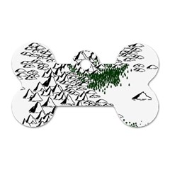 Montains Hills Green Forests Dog Tag Bone (one Side)