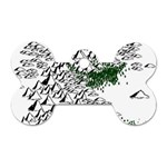 Montains Hills Green Forests Dog Tag Bone (One Side) Front