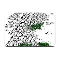Montains Hills Green Forests Small Doormat