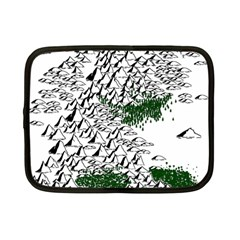Montains Hills Green Forests Netbook Case (small)