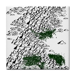 Montains Hills Green Forests Face Towel