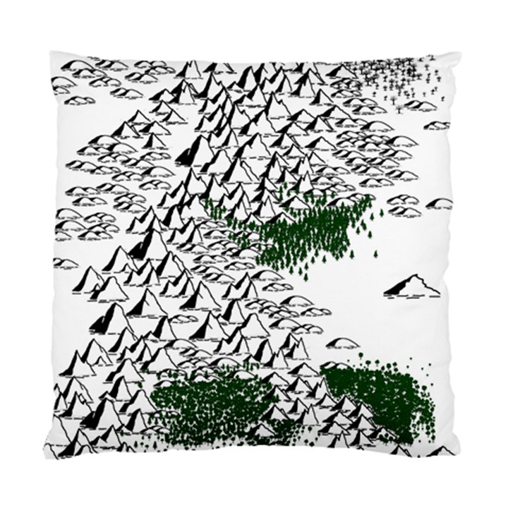 Montains Hills Green Forests Standard Cushion Case (One Side)