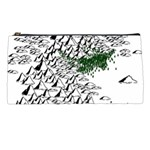 Montains Hills Green Forests Pencil Cases Front