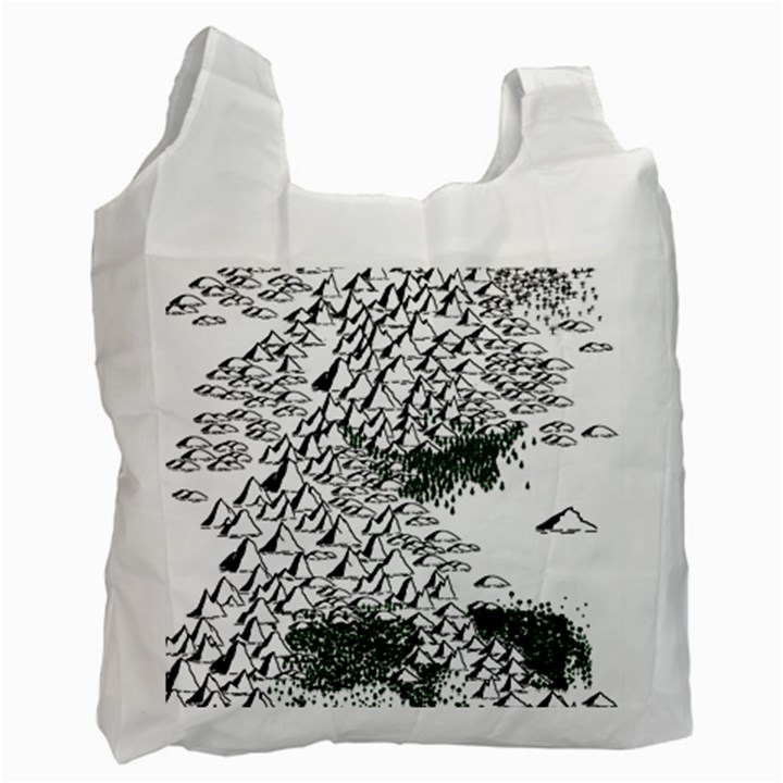 Montains Hills Green Forests Recycle Bag (Two Side)