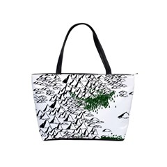 Montains Hills Green Forests Classic Shoulder Handbag by Alisyart