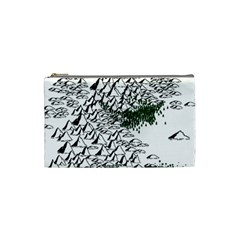 Montains Hills Green Forests Cosmetic Bag (small)